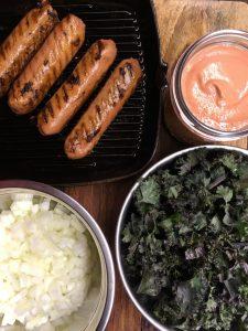 Sausage pasta ingredients