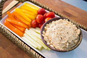 butter bean hummus and veggies