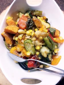 Roasted veggies in a bowl