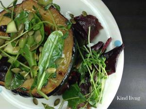 Roasted squash salad bowl