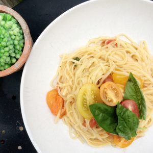 One Pot Pasta on a plate