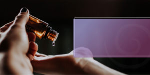 Essential Oil With Purple Rectangle on image