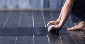 Rolling up Black Yoga Mat - Kind Living - Orillia