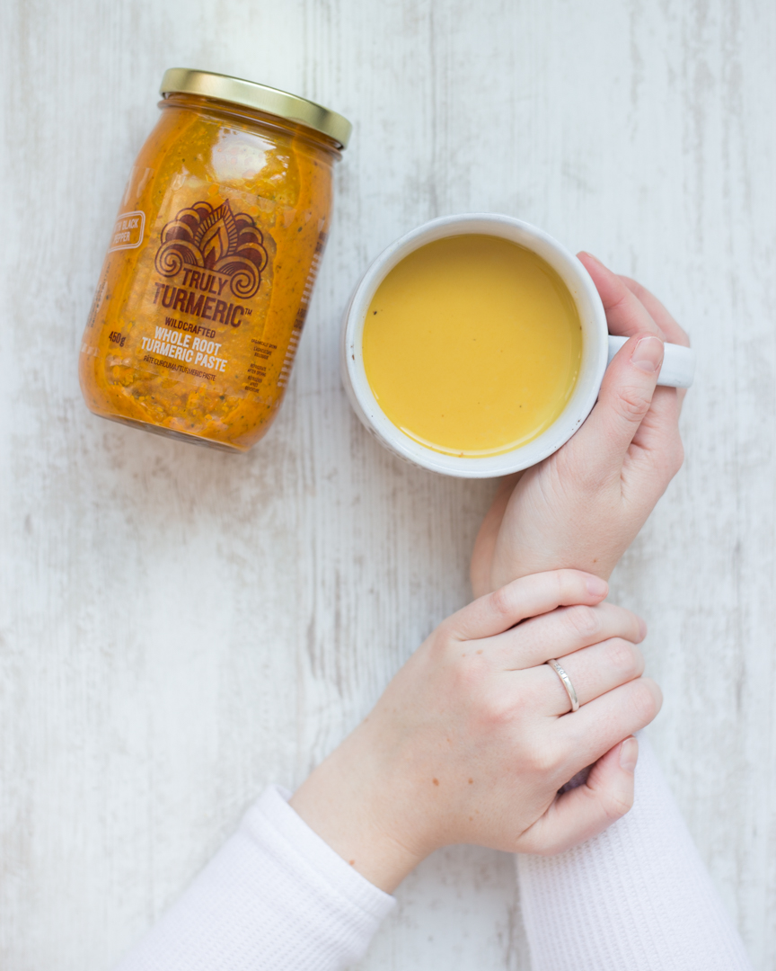 Yellow latte and Truly Turmeric Jar